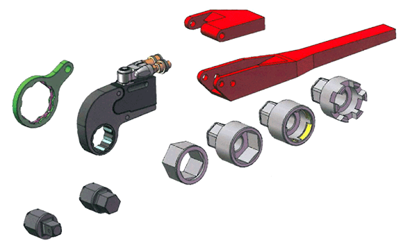 Hytorc VERSA Torque Wrench Exploded View