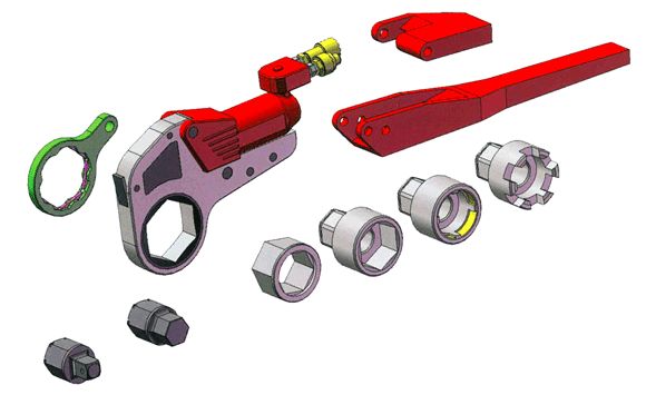 Hytorc XLCT Torque Wrench Exploded View